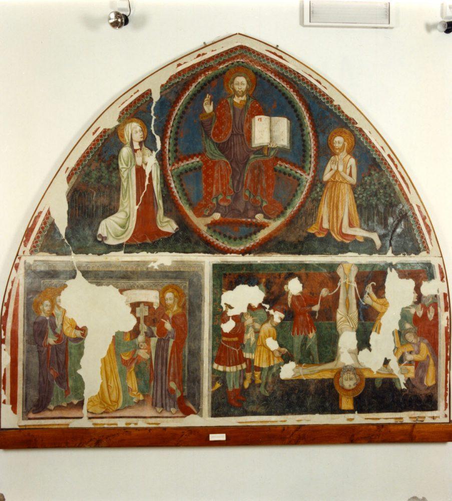 Interno museo - affresco di Giovanni di Francia